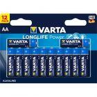 VARTA-4906-12B Alkaline Battery AA 1.5 V High Energy 12-Pack