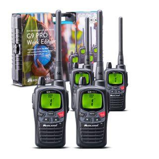Midland G9 Pro Work Edition - 4 Radios + Accessories