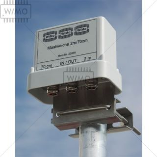 Diplexer Mast 2m / 70cm, 3x N