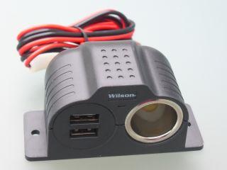 Wilson 12V sigarsüütaja pesa ja 2 X USB pesa 3,4A