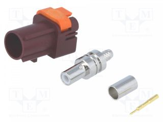 Plug;FAKRA II SMB;male;straight;RG174,RG316;crimped;claret