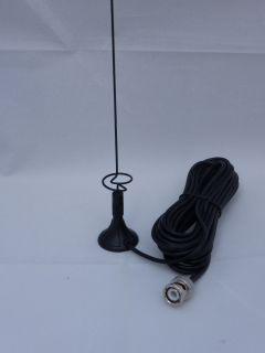 Magnum MINISCAN V1 minimagnet antenna 50cm, RX Freq Range 0.5 - 2000 MHz, TX 2M/70CM, Cable 495 cm of RG174
