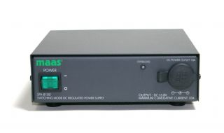 MAAS SPA8100 Power Supply, Switch Mode, 10A Continuous, Cigarette Lighter Plug Socket on Front