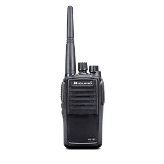 Midland G15PRO PMR446 portable semi-professional transceiver IP67, LiIon battery, desktop charger