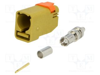 Plug;FAKRA II SMB;female;straight;RG174,RG316;crimped;yellow