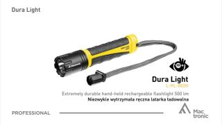Mactronic Dura Light, Rechargeable flashlight 500 lm for Use in Extreme Conditions