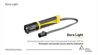 Mactronic Dura Light, Rechargeable flashlight 280 lm for Use in Extreme Conditions