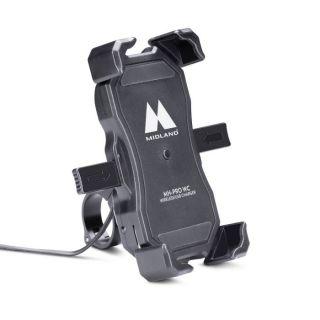 Midland MH-PRO WC - telefoni hoidja lenksule, juhtmevaba laadijaga