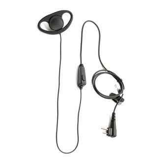 PTE-160N K01 D-shaped ear piece and microphone for TC265/365/Kenwood
