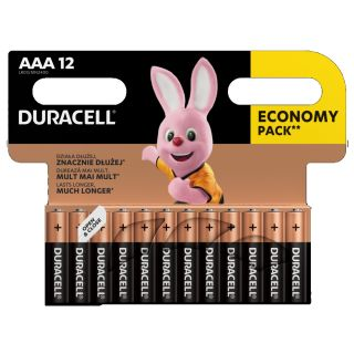 Duracell Basic Alkaline Battery AAA/LR3 12-pack