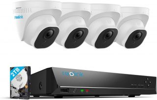 Reolink RLK8-800D4 4K PoE IP security camera kit with 2TB NVR recorder