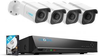 Reolink RLK8-810B4-A 4K PoE IP security camera kit with 2TB NVR recorder