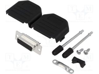 DPPK15-BK-HDS-K Plug; D-Sub HD; PIN:26; female; soldering; for cable