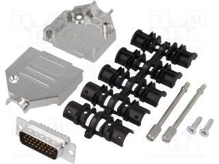 ENCITECH DTZK15-HDP-K D-Sub HD; PIN: 26; plug; male; soldering; for cable; black