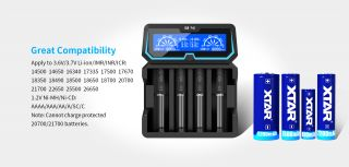 XTAR-X4 Fast-charging LCD Li-ion/ Ni-MH Battery Charger