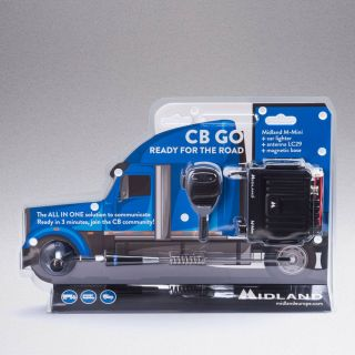 Midland CB-GO - M-Mini car transceiver and LC29 magnetic antenna SET in blister