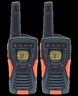 Cobra AM1035 FLT waterproof floating PMR446 transceiver, incl. deskcharger, battery NiMh 700mAh, belt clip