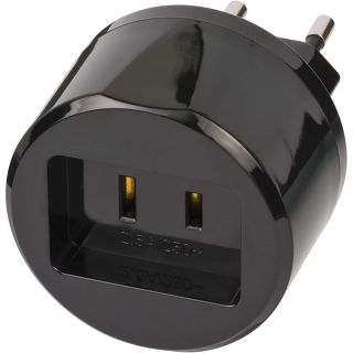 Brennenstuhl Travel Adapter USA-to-Europe with 2.5 A Fuse