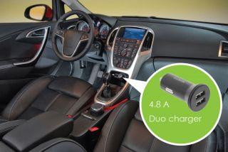 Sweex CH-012BL Car Charger 2-Outputs 4.8 A 2x USB Black