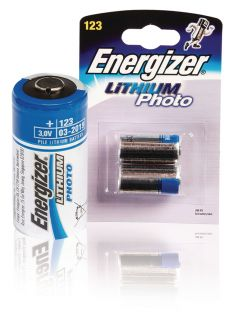 Energizer Compare Lithium Battery CR123A 3 V 2-Blister