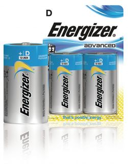 Energizer Advanced alkaline D/LR20 2-blister