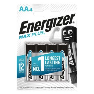 Energizer Compare Alkaline Battery AA 1.5 V Max Plus 4-Blister