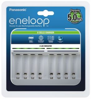 Panasonic Eneloop BQ-CC63 8 channel battery charger for AA/AAA