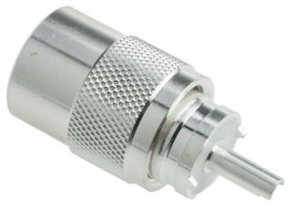 UHF male connector twist-on RG213 TEFLON