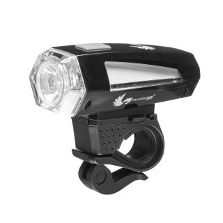 Front bike lamp, Falcon Eye NEX WH,  100lm, 3W LED +2x Red LED, battery operated (3x AAA), set (handlebar mount), blister