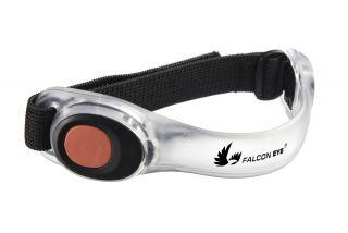 Falcon Eye LED velcro käepael STRAPO, punane valgus, 2 x CR2032, 2 punast LED-i, 6h