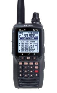 Yaesu FTA-750L Airband COM radio with VOR, ILS, GPS NAV