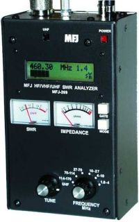 MFJ-269C antenna analyzer 1.8 to 170 MHz and 415 to 470 MHz