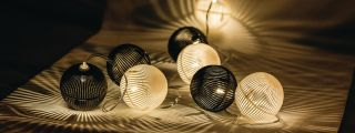 HQ String light black and white ball 10 LED