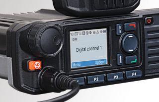 Hytera MD785iUG autoraadiosaatja 1 - 25W, 400-470Mhz, GPS-ga, DMR Tier II digitaal ja analoog