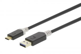 König KNC61600E10 USB 3.1 Cable USB-C Male - USB A Male 1.00 m Anthracite