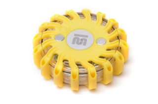 Mactronic signal disc, yellow light, rechargeable, set (6x disc, 230V and 12V charger, case), yellow colour, box