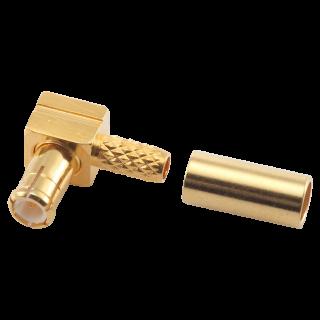 MCX male plug crimp-solder angle RG174/316