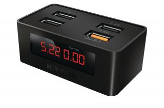 ICY BOX PT-407123 4-Port USB-fast-charging-device