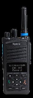 Hytera PT350 TETRA käsiraadiosaatja, OLED ekraan ja nupud