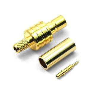 SMB jack crimp-solder for RG58/RF195