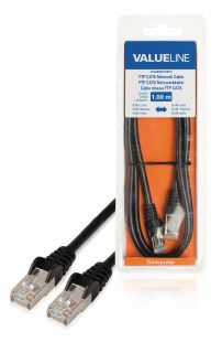 VLCB85210B10 FTP CAT 6 network cable 1.00 m black