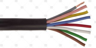 Rotator control cable, per m, 8-wire