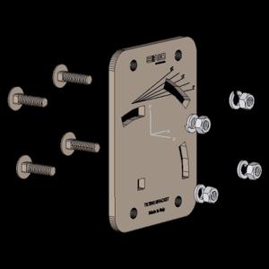 Sirio SA198 Steel Tilting Bracket for Sirio WY-Series, Tilting Maximum 20 degrees