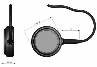 UNISAT (2.5V) Low power universally mounted active GPS antenna for navigation and tracking 3m cable with FME connector