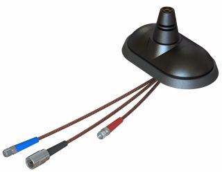 TETRASAT® UNI (5V) Roof-mounted 4-band antenna base with tilt option and integrated active GPS and GSM dual-band antennas
