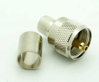 UHF crimp male plug for RG213