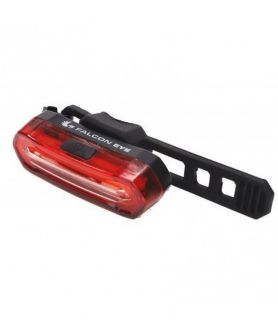 Rear bike lamp, Falcon Eye HALO, 12 lm, rechargeable, set (accumulator, mounting bracket, USB cord), blister