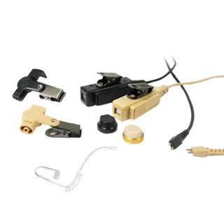 PTE-880 S05 2-wire surveillance headset with accoustic tube