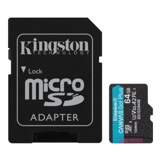 Kingston MicroSDXC mälukaart Canvas Go Plus 64GB