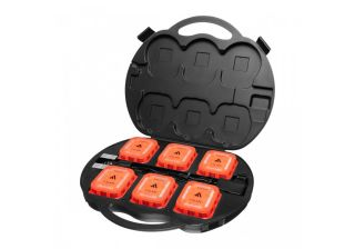 Mactronic PSD00111 Signal disc, amber light, rechargeable, set (4Xdisc, 230V and 12V charger, case)